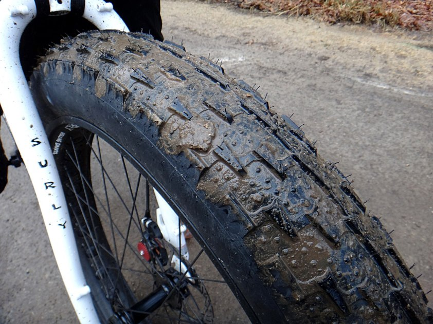 Muddy tire (Photo by Nate Vergin)