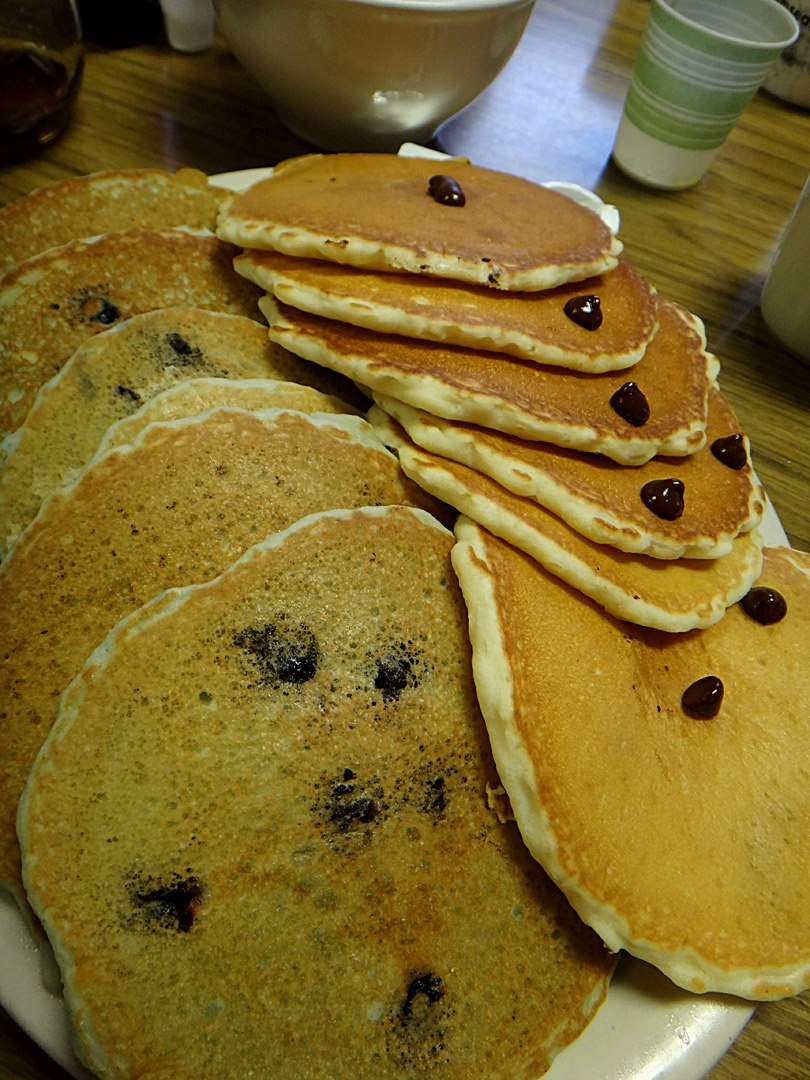 Pancakes, family style (Photo by Nate Vergin)