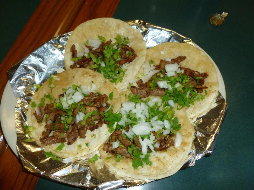 Steak tacos at Cuco's