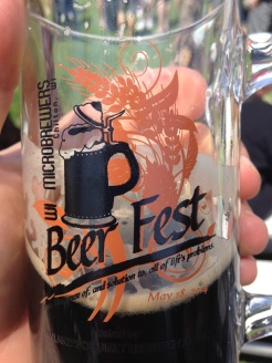 At the beer fest.