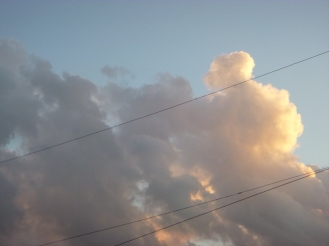 Clouds at home.