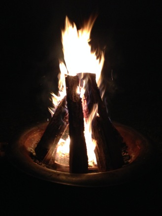 Fire, of an evening.