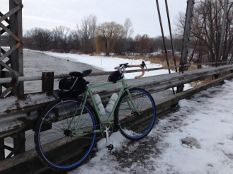 Early season single-speeding on the road, to get ready for Trans-Iowa.