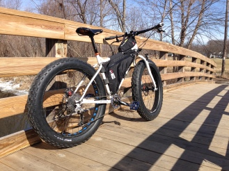 Riding fat during the spring thaw. I don't think the Ox has been this clean since.