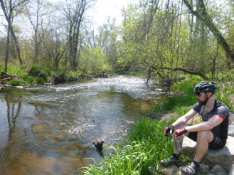 Nate on the shores of Badfish.