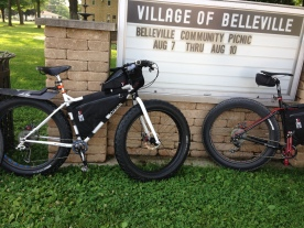 Fat-bikes in Belleville, on the BST.