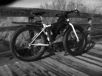 Fat-bike bridge crew.