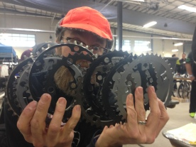 Michael, with his haul of chainrings.