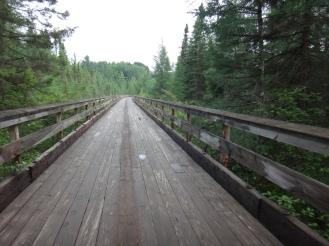 Long, curving trestle.