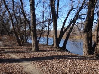 Trail, river.