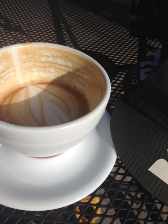 Coffee doping in the sun at AC.